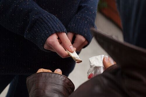 Person buying drugs
